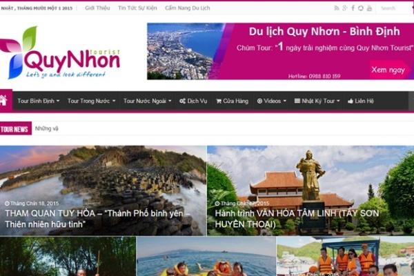 Thiet Ke Website Du Lich Dep Gia Re Quy Nhon